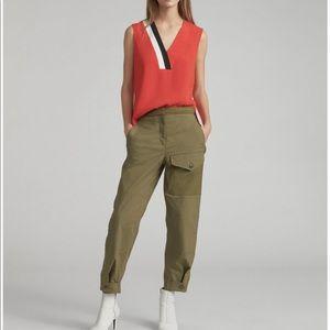 Rag & Bone Green Marion Snap Side Pants Size 0